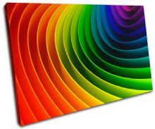 Rainbow Design Abstract - 13-1035(00B)-SG32-LO